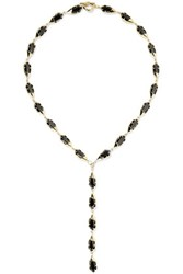 Noir Jewelry Harlequin Gold Plated Crystal Necklace One Size