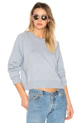 Alexander Wang Cashwool Crewneck Crop Sweater Blue