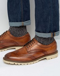 Base London Raid Derby Brogue Shoes Tan
