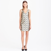 J.Crew Collection Gilded Chevron Shift Dress