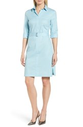 Boss Dashiri Stretch Poplin Dress Lagoon Blue