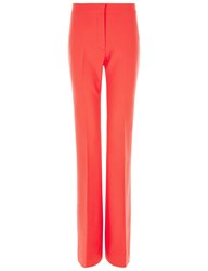 Victoria By Victoria Beckham Hot Coral Bootcut Pants Pink