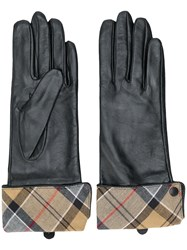 Barbour Checked Lining Gloves Black