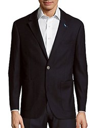 Tailorbyrd Kandinsky Solid Long Sleeve Jacket Navy