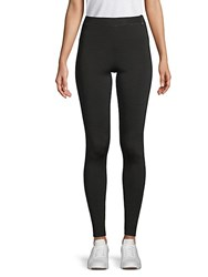 Valentino Rib Knit Classic Leggings Nero