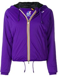 K Way Lily Micro Ripstop Jacket Pink And Purple