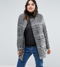 Junarose Plus Coat In Check Multi