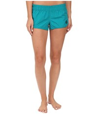 Hurley Supersuede Solid Beachrider Rio Teal Women's Swimwear Olive