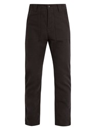 The Lost Explorer Fatigue Cotton And Wool Blend Trousers Black