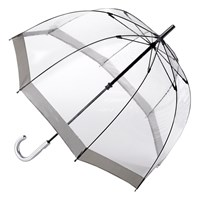Fulton Birdcage Domed Umbrella Silver