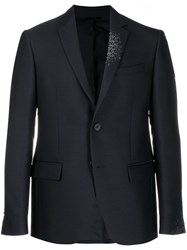 Fendi Slim Fit Blazer Jacket Blue