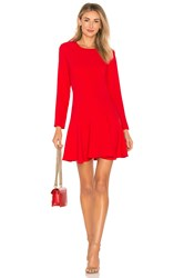 Amanda Uprichard X Revolve Long Sleeve Hudson Mini Dress Red