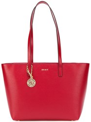 Donna Karan Satton Medium Bucket Tote Red