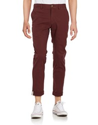 Ben Sherman Slim Fit Stretch Chino Pants Burnt Red