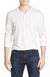 Men's James Perse 'Suvin Jersey' Long Sleeve Henley White