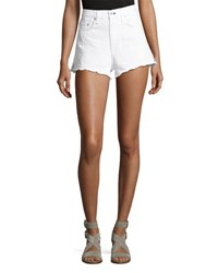 Rag And Bone Justine High Rise Cutoff Jean Shorts White