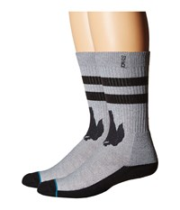 Stance Deathstalker Grey Men's Crew Cut Socks Shoes Gray