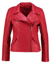 More And More Leather Jacket Vintage Red