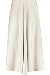 Jil Sander Pleated Wool Skirt Gray