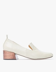 Gavea Loafers In Creme Lizard