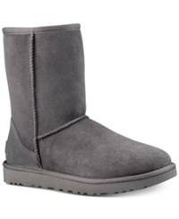Ugg Classic Ii Genuine Shearling Lined Short Boot Grey