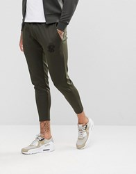 Sik Silk Siksilk Track Cropped Joggers In Khaki Green
