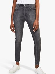 French Connection Mid Rise Skinny Rebound Jeans Charcoal