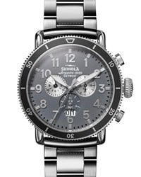 Shinola 48Mm Runwell Sport Chronograph Watch With Bracelet Silver
