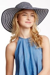 14Th And Union Lurex Braided Floppy Hat Blue