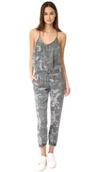 Pam And Gela Camo Strappy Jumpsuit