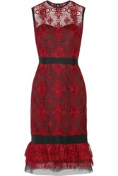 Catherine Deane Greer Guipure Lace Dress Claret
