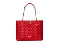 Love Moschino Superquilted Large Tote Red Tote Handbags