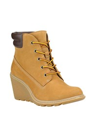 Timberland Amston Leather Lug Ankle Boots Camel