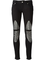 Dondup Studded Panel Jeans Black