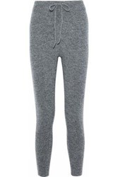Love Stories Casey Marled Ribbed Knit Track Pants Gray