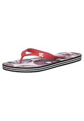 Dc Shoes Spray Graffik Flip Flops Athletic Red Oyster