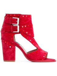Laurence Dacade Deric Cut Off Boots Red