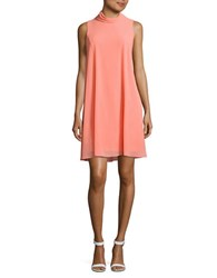 Vince Camuto Solid Sleeveless Sheath Dress Coral Melo