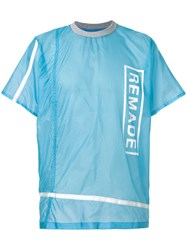 Christopher Raeburn Remade Parachute T Shirt Nylon L Blue
