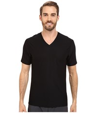 Exofficio Give N Go V Neck Black Men's Short Sleeve Pullover