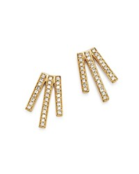Moon And Meadow Diamond Triple Bar Earrings In 14K Yellow Gold 0.20 Ct. T.W. 100 Exclusive White Gold