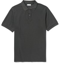 Sunspel Slim Fit Pima Cotton Pique Polo Shirt Petrol