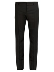 Valentino Slim Fit Wool And Mohair Blend Trousers Black
