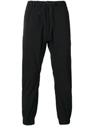 Attachment Elasticated Cuffs Jogging Trousers Men Nylon Polyester Iii Black