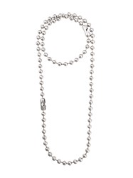 Maison Martin Margiela Mm6 Layered Bead Necklace Silver