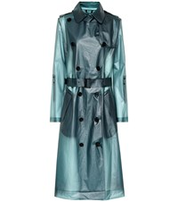 Dorothee Schumacher Techno Transparency Raincoat Blue