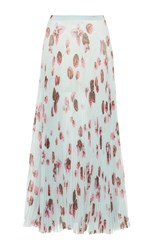 Luisa Beccaria Floral Pleated Skirt