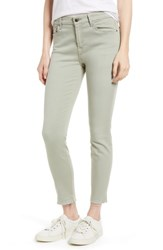 Jen7 Release Hem Colored Ankle Skinny Jeans Lilly Pad