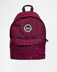 Hype Speckle Backpack Red