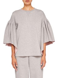Ted Baker Says Relax Orcher Full Sleeve Sweatshirt Light Grey